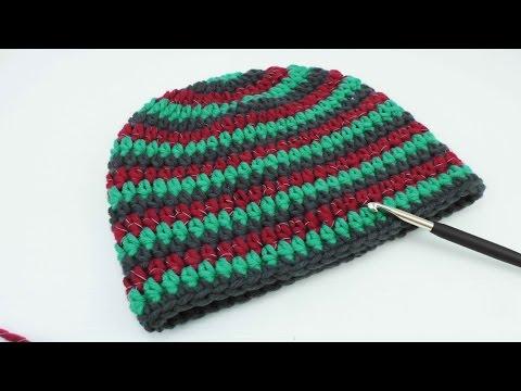 Einfache Mütze Häkeln Mit Unsichtbaren Rundenabschluss 20