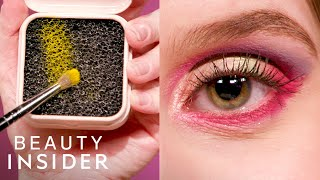 Testing Fentys Dry Brush Cleaner With An 8-Color Eye Look | Beauty Or Bust