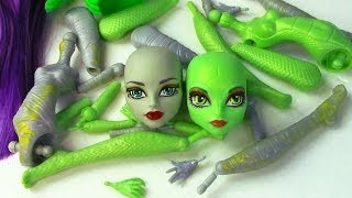 Create A Monster High Mummy & Gorgon Girls Doll Starter Pack CAM Set
