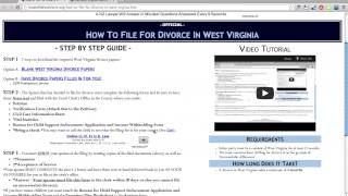 Free West Virginia Divorce Papers and Forms
