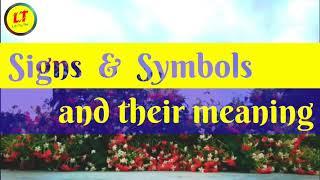 Signs  &  Symbols 👆