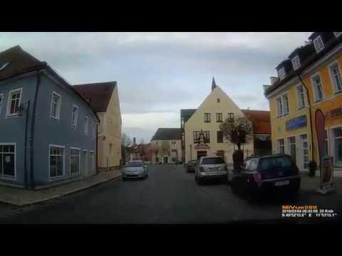 D: Stadt Kemnath. Landkreis Tirschenreuth. Rundfahrt durch die Stadtmitte. März 2019