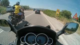 Top Speed GTS 300i F4 and chasing a yellow BMW GS