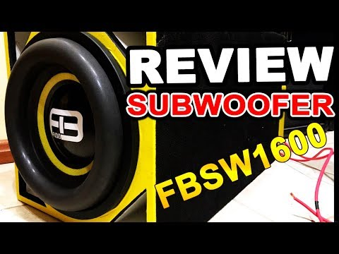 Review SUBWOOFER FBSW1600 SUBGRAVE!