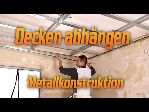 Decke abhängen - Metall/Deckenkonstruktion bauen für Rigipsdecke  / Hobein