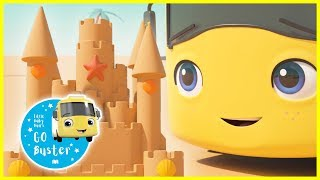 Learn How To Build a Sandcastle - NEW!! | Summer Kids Videos | GoBuster | Nursery Rhymes | Single