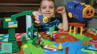 Железная дорога Очень быстрый паровозик Мультики про паровозики для детей Train track set review