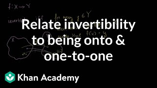 Relating invertibility to being onto and one-to-one