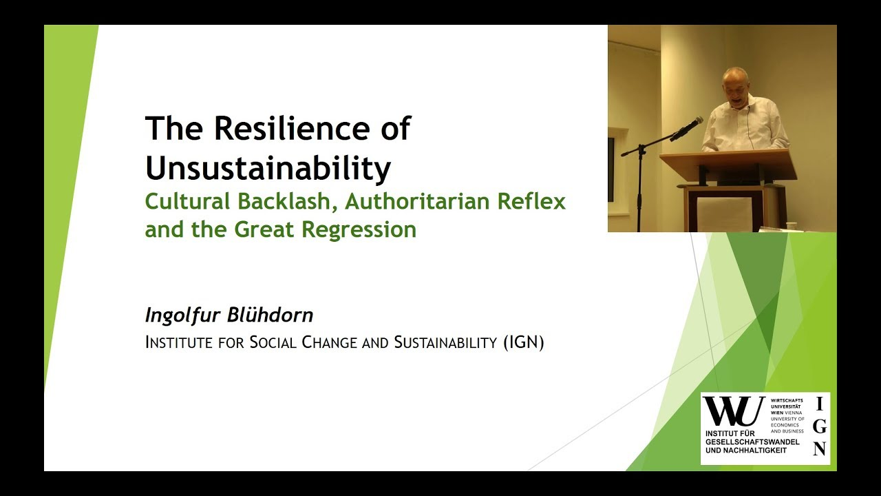 Video Resilience of Unsustainability