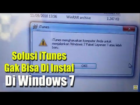 Cara mudah mengatasi iTunes yang tidak bisa diinstal di windows 7
