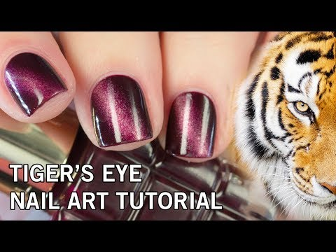 Easy DIY Tiger's Eye Nail Art Tutorial | NO Gel & NO Magnets