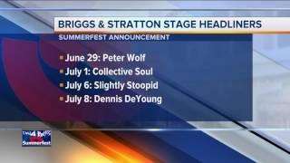 Summerfest announces Briggs & Stratton Big Backyard headliners