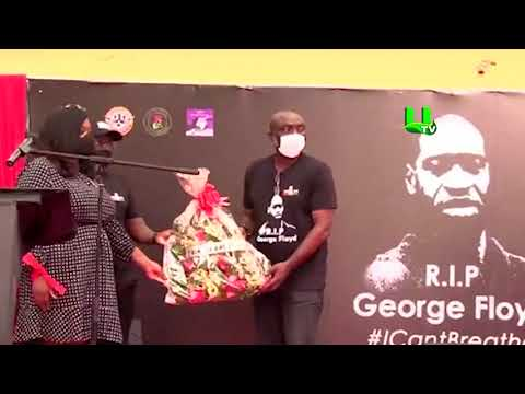 George Floyd's Memorial Service Held In Ghana