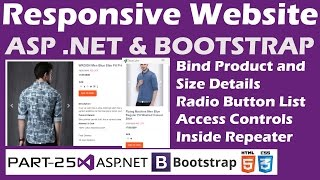 Responsive Website-ASP.NET&Bootstrap-Part 25-Online Shopping Site-Bind Product,Size Details-Repeater