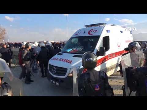 Afjet Afyonspor-Bucaspor maç sonrası olaylar