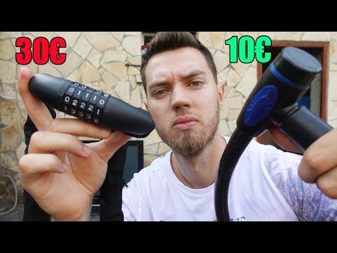 Wie schwer ist es ein 30€ Fahrrad Schloss zu knacken? - Experiment