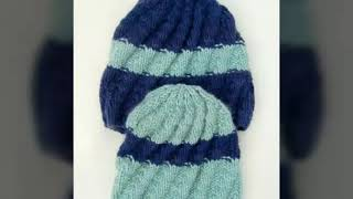 easy male beret knitted baby