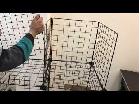 , title : 'DIY Closet Cabinet Metal Wire Storage Cubes Organizer (12 - Regular Cube)