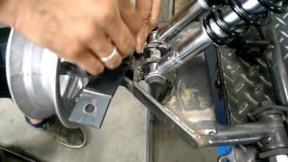Kart Cross Construção Artesanal FASE 17 - Suporte Da Barra De Direção