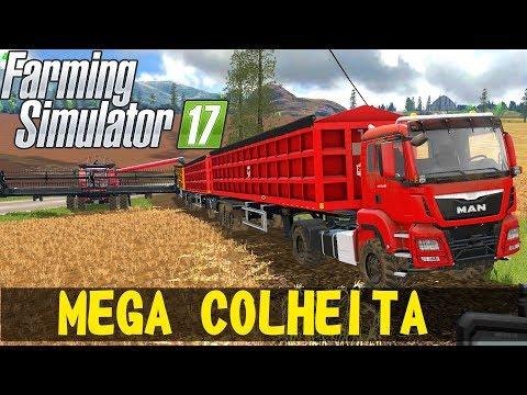 MEGA COLHEITA  | Farming Simulator 17 |FAZENDA BOA NOVA - Episódio 7