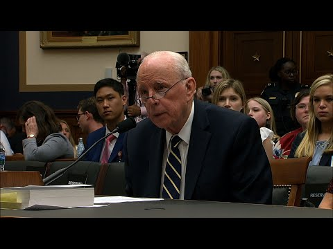 "John Dean, a star witness during Watergate who helped bring down the Nixon presidency, testifies that special counsel Robert Mueller left Congress with a ""road map"" for investigating President Donald Trump. (June 10)"