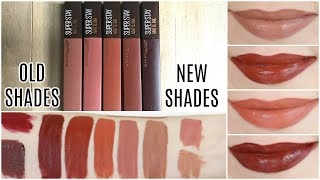 Maybelline SuperStay Matte Ink Liquid Lipsticks Coffee Edition    Lip Swatches & Review