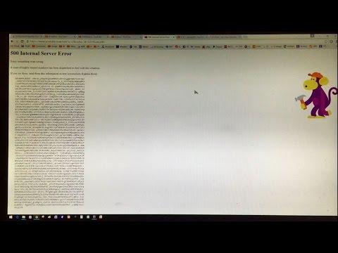 Video 500 Internal Server Error | Highly Trained Monkeys Error Message