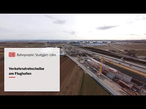 Verkehrsdrehscheibe am Flughafen