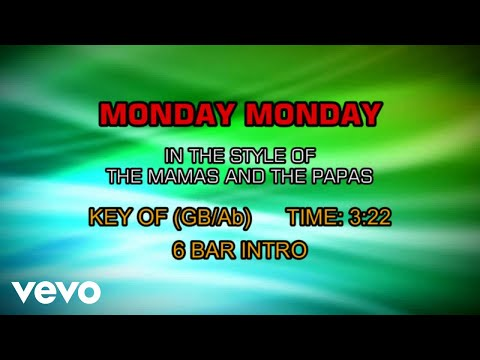 The Mamas and The Papas - Monday Monday (Karaoke)