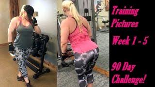 90 DAY CHALLENGE !!! Training Pictures Week 1 Thru 5!  FITNESS MOTIVATION