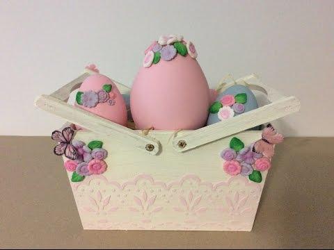 Cesta y huevos de Pascua -Myba-segunda versión