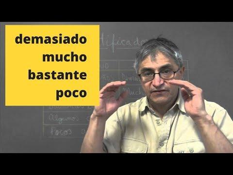 Cuantificadores en español: demasiado, mucho, bastante, poco...