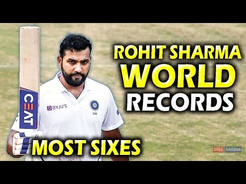 10 Records broken by Rohit Sharma in Tests | Most Sixes in a Test | India vs South Africa 2019