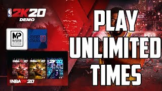 HOW TO PLAY NBA 2K20 DEMO UNLIMITED TIMES (PS4) 😎💯😱🚀