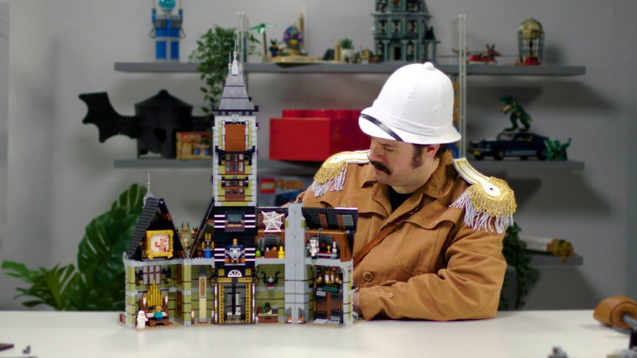 LEGO Haunted House | Scary Creator Expert Theme Park Ride| Designer Video 10723
