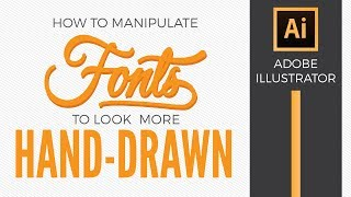 How To Make A Font Look Hand Drawn & Opentype Illustrator Tutorial - Graphic Design How To