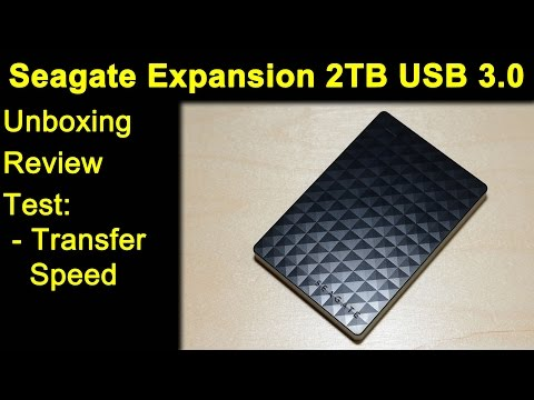 Seagate Expansion 2TB USB 3.0 STEA2000400 ext. Festplatte - Unboxing, Review, Test, Transfer Speed