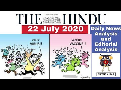 the hindu news |22 July 2020|The Hindu newspaper Analysis|Editorial Analysis|The Hindu News Analysis