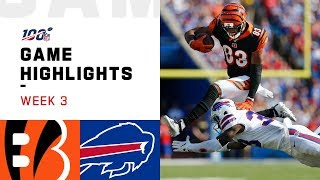 Bengals vs. Bills Week 3 Highlights | NFL 2019