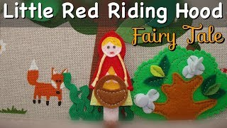 Little Red Riding Hood Fairy Tale For Children | Felt Quiet Book |  Russian & English Subtitles