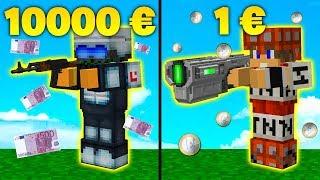 ARMA 10000€ vs 1€ - ARMA RICCA VS POVERA - Minecraft ITA