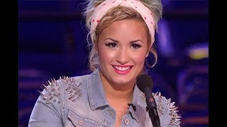 DEMI LOVATO FLIRTING WITH X FACTOR CONTESTANTS