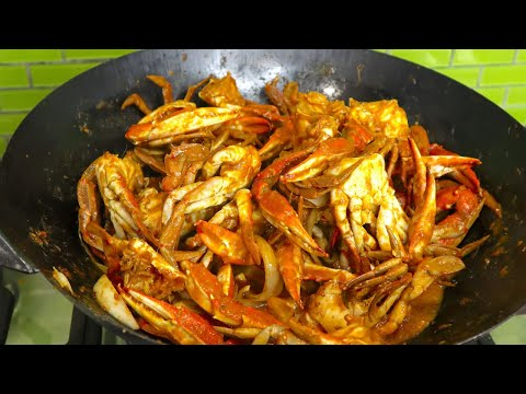 SPICY CHILI  CRABS RECIPE | Indonesian/Asian seafood style || Erwinasland