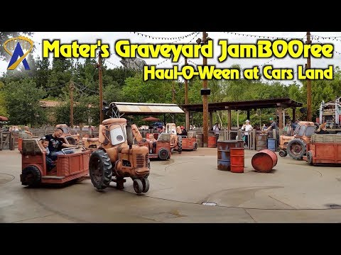 Mater's Graveyard JamBOOree during Haul-O-Ween at Cars Land
