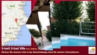 preview picture of video '3-bett 2-bad Villa zu verkaufen in Sax, Salinas, Alicante, Spain'