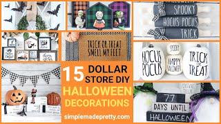 15 DIY DOLLAR STORE HALLOWEEN Decorations- 🎃 Halloween Dollar Tree, Halloween Target