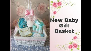 NEW BABY GIFT BASKET | CUTE GIFT | NEWBORN | GIFT WRAPPED