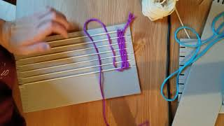 Weaving On Cardboard Loom
