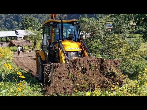 JCB Backhoe-Making New Track in REMOTE VILLAGE-Happy Villagers
