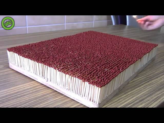 FIRE DOMINO OF 6000 MATCHES |CHAIN REACTION|